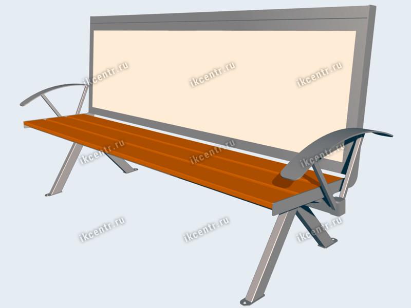 Рекламная скамейка своими руками